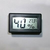 Mini Digital LCD Indoor Temperatur Luftfeutigkeit Thermometer Hygrometer PP