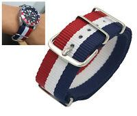 Watch Nylon Fabric Pepsi Band Sport Strap for Seiko Tissot Citizen Timex Oris