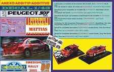 ANEXO DECAL 1/43 PEUGEOT 307 WRC DANIEL CARLSSON SWEDISH RALLYE 2005 (06)