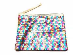 TARTE MULTI-COLOR  SEQUIN ZIPPER MAKEUP BAG CLUTCH~LTD EDITION~NIP~FAST SHIPPING