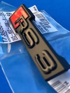 Logo AUDI RS3 Black Edition Grille A3 S3 Rs Black Original AUDI 8V0853736BT94