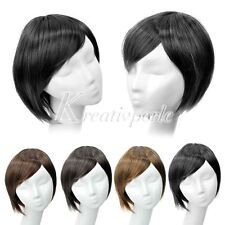 Schwarze Kurze Perücken & Haarteile