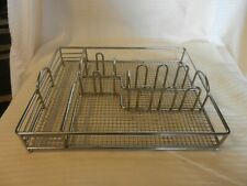 Chrome Metal Utensil Organizer with Ball Feet for Picnic or Drawer Use