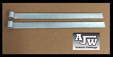 "2 x Strap Straight Hinge 18"" 460mm Zinc Plated Truck Horsebox Trailer Tipper"