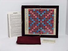 1990 Milton Bradley Deluxe Travel Edition SCRABBLE Crossword Game Incomplete -2
