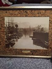 """Picture Frank Meadows Sutcliffe Photo,"""" Whitby, Harbour """" 1875 Matted Framed Art"""