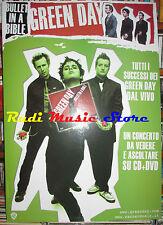 CARTONATO PROMO GREEN DAY Bullet in a bible 48 X 68 cd dvd vhs lp live