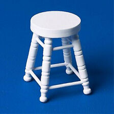 Dolls House 12th Scale Stool White NB237