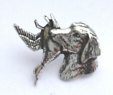 Labrador Retriever And Duck Hand Made in Pewter Lapel Pin Badge