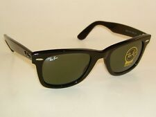 New RAY BAN Original WAYFARER Sunglasses RB 2140 901 Black Frame 50mm Medium