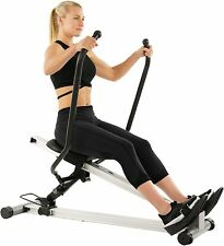 Sunny Health & Fitness Incline Full Motion Rowing Machine Rower with 350 lb