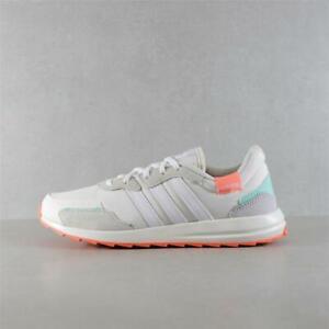 Womens Adidas Retrorun White/Coral Trainers (TGF63) RRP £54.99