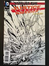 DC Justice League of America Forever Evil 8C Doug Mahnfke 1:100 Sketch - NM