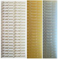 DAISY BORDERS Peel Off Stickers Card Making Daisy Flower Chain Gold Silver White
