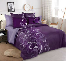 Single/KS/Double/Queen/ King Size Bed Ultra soft Quilt Cover Set-Purple