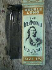 1 pack Colletable vintage sewing machine needles English rare Flora Macdonald tm