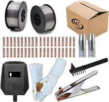 48pcs Nozzles Contact Tips Flux Core Machine Accessories For Mig Welding Welder