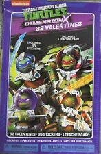 New Tmnt 32 Pack Valentines Day Cards School Party w 35 Stickers & Teacher Card