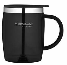 Thermos Thermocafe desk mug thermal coffee drink travel - black, 450 ml