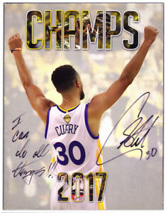 Golden State Warriors CHAMPS MAGAZINE 2017 SIGNED Stephen CURRY Champs Only Inc.