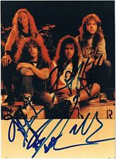 "Metallica genuine early autographs signed 5""x7"" photo American heavy metal band"