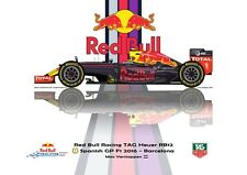 Greetings card Red Bull Racing RB12 2016 #33 Max Verstappen (NED) Version 2