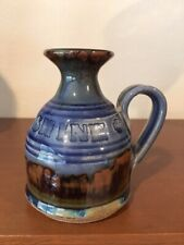 """Studio Art Pottery Oil Lamp Candle """"Let it Shine"""" Signed Embossed Letters"""