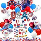 NAIWOXI Patriotic Decorations - American Flag Decorations Included Banner Pap...