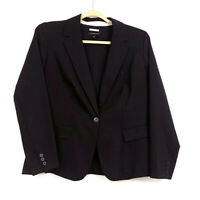 Lane Bryant Womens sz 18 Black Blazer The Modernist Collection Pockets Button