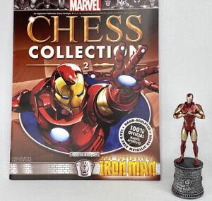 Marvel Eaglemoss Chess Collection No.2 Iron Man Figure with Magazine
