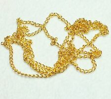 GOLDEN COLOUR TWISTED CHAIN  5 x 3 x 0.8mm LOOSE (BBF1013)