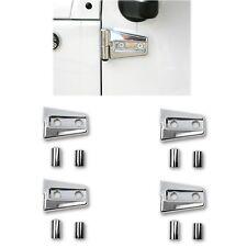 Chrome Hinge Protector Covers For 97-17 Jeep Wrangler Jk Rubicon Sport 2 Door