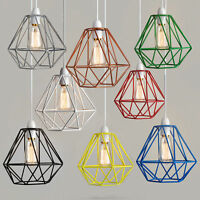 Modern Wire Frame Non Electric Bedroom Lighting Light Pendant Shade LED Bulb