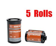 5 Rolls Foma Fomapan Retropan 320 ISO320  35mm 135-36  B&W  Film Fresh 06/2020