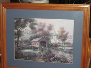 Amish Country, Razzberry Creek Covered Bridge Print by Carl Valente