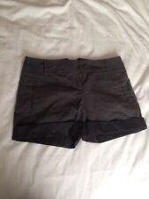Topshop Grey Black Striped  Hotpants Shorts 8