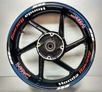 Honda Racing HRC Blue Reflective & White Reflective, 2 Colour Wheel Rim 025/039