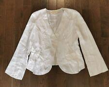 Pure DKNY White Silk Blazer Jacket Style Blouse Single Button Sz 6 Lightweight