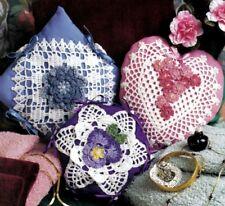 Feminine Floral Sachets/Decor/Crochet Pattern Instructions Only