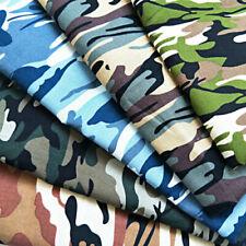 1 Yard Fashion Army Green Camo Camouflage Print Cotton Material Fabrics Poplin**