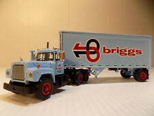 FIRST GEAR MACK R MODEL WITH 28' PUP TRAILER Briggs Transportation   60-0341