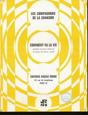 LES COMPAGNONS DE LA CHANSONS partition musicale COMMEN