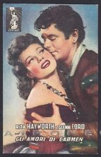 RITA HAYWORTH 17 GLENN FORD ATTRICE ACTRESS ATTORI CINEMA MOVIE STAR Cartolina