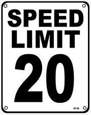 Límite de velocidad 20 Aluminio Pared signo (SS)