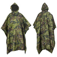 Nitehawk Camouflage Waterproof Hooded Poncho Outdoor Camping Hiking Rain Cover