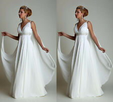 Beach Maternity Greek Wedding Dress Robe de Mariage High Waist Plus Size