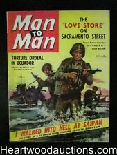 Man to Man Apr 1959, Int. Male Bondage,Victor Wilson Tommy Gun cvr, Anita London