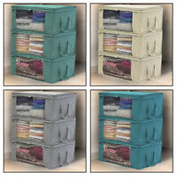 Foldable Storage Bag Clothes Blanket Quilt Closet Sweater Organizer Box Pouch gh