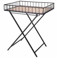 ORION Tisch aus METALL mit TABLETT Couchtisch Beistelltisch Klapptisch rechtecki