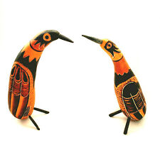 Handmade Peruvian Art Gourd Bird Ornaments Peruvian Folk Art